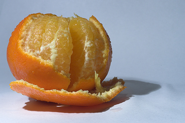 Mandarin, almost ready to be eaten...
