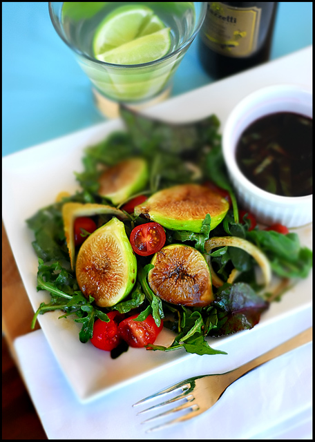 Figs, Fennel, Roma Tomatoes and Rocket with a Balsamic Reduction & Virgin Olive Oil Dressing
