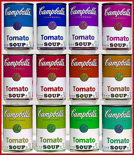 12 Cans of Soup (with apologies to Andy Warhol)