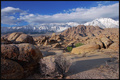Alabama Hills and Sierra Nevada Mountains