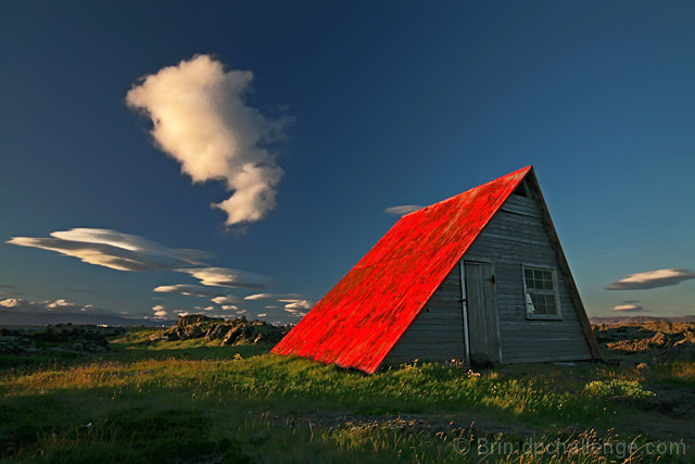 The little red hut
