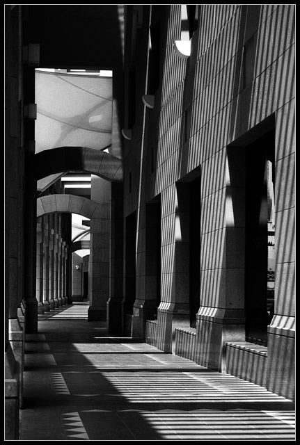 Architecture, light, shadow