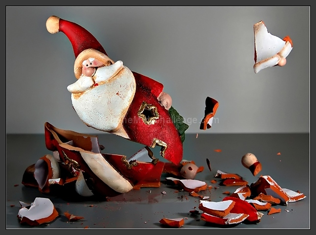 ...no more Christmas presents, Santa's gone to pieces...
