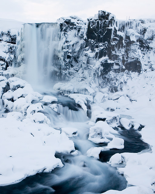 Iced waterfall