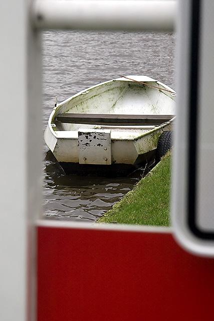 Boat in passepartout