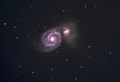 Colliding galaxies near the big dipper