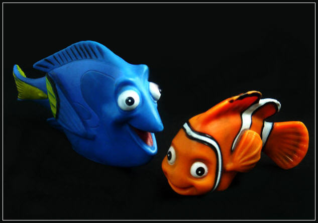 Finding Nemo (Is Dori speaking Whale in Marlin's ear?)