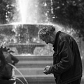 Man and Fountain
