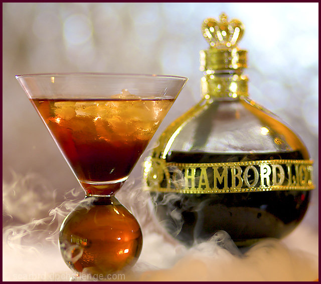 Chambord Martini On The Rocks