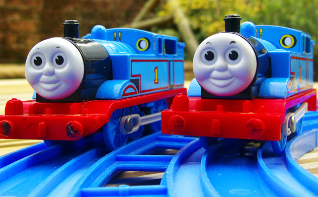 """Well lets ask the Fat Controller who's the real Thomas"""