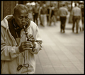 Musician, Nicollet Mall