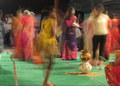 Playing 'Dandia' around 'Matka' - Traditional Indian...