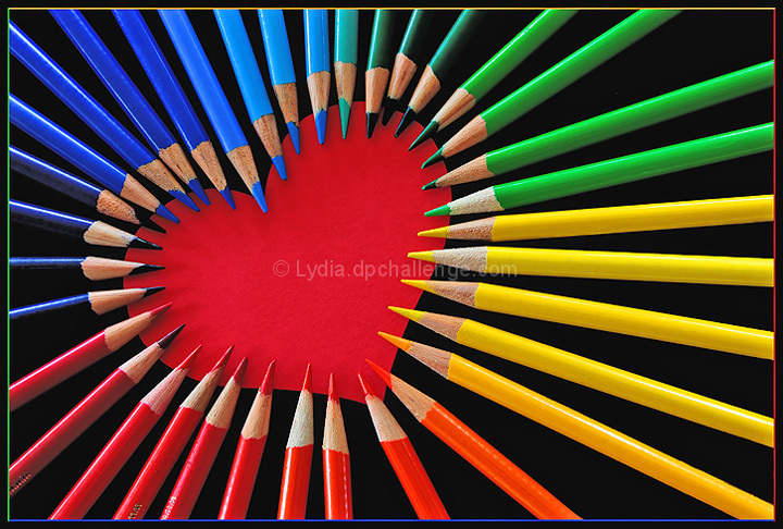 Colored Pencil Heart