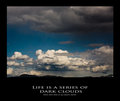 A series of dark clouds