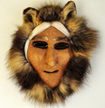 Inupaiq Native Alaskan - Caribou skin & fur mask