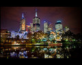 Melbourne - Fed Square Lights on Yarra
