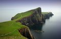 Neist Point Lighthouse located on the Isle of Skye in Scotland