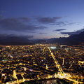 Grenoble at blue night