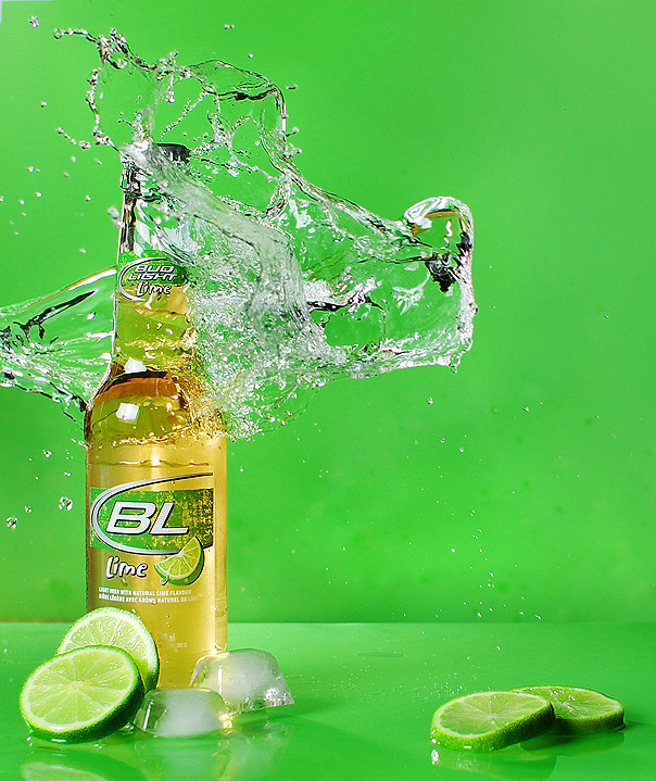 Bud Light, With a Splash of Lime
