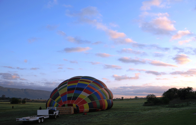 Ballooning-early morning sky