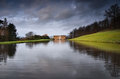 Chatsworth House on a moody day