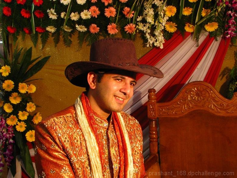 f52be156d2833 indian groom with cowboy hat by prashant 168 - DPChallenge