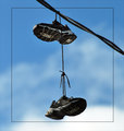 School Yard Prank - Shoes over the wires