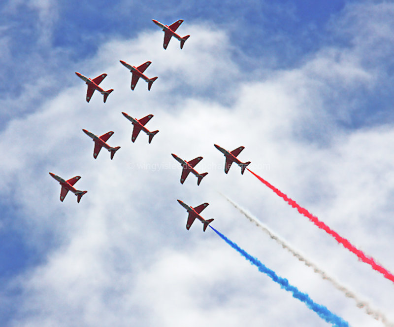 Red Arrows - Battle of Britain Spitfire Tribute- Professional Precision