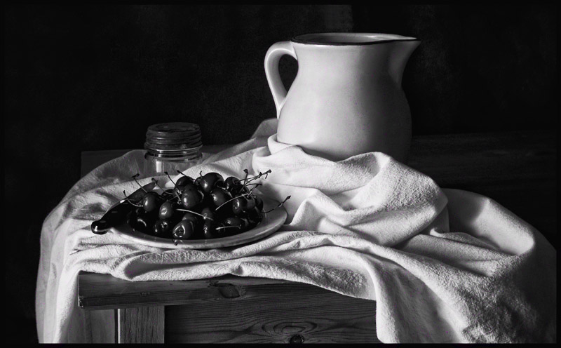 Still Life With Cherries Tribute To Cezanne By Imagesbytlp