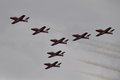 Snowbirds:  Vulcan Formation - Connect each edge corner plane to form the triangle.