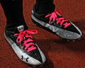 Football Player's Cancer Awareness Shoes