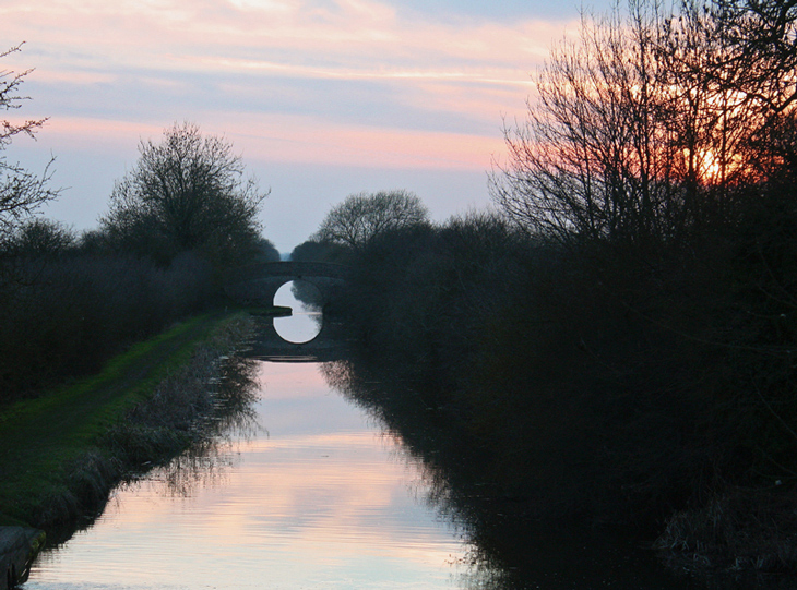 Canal sunset