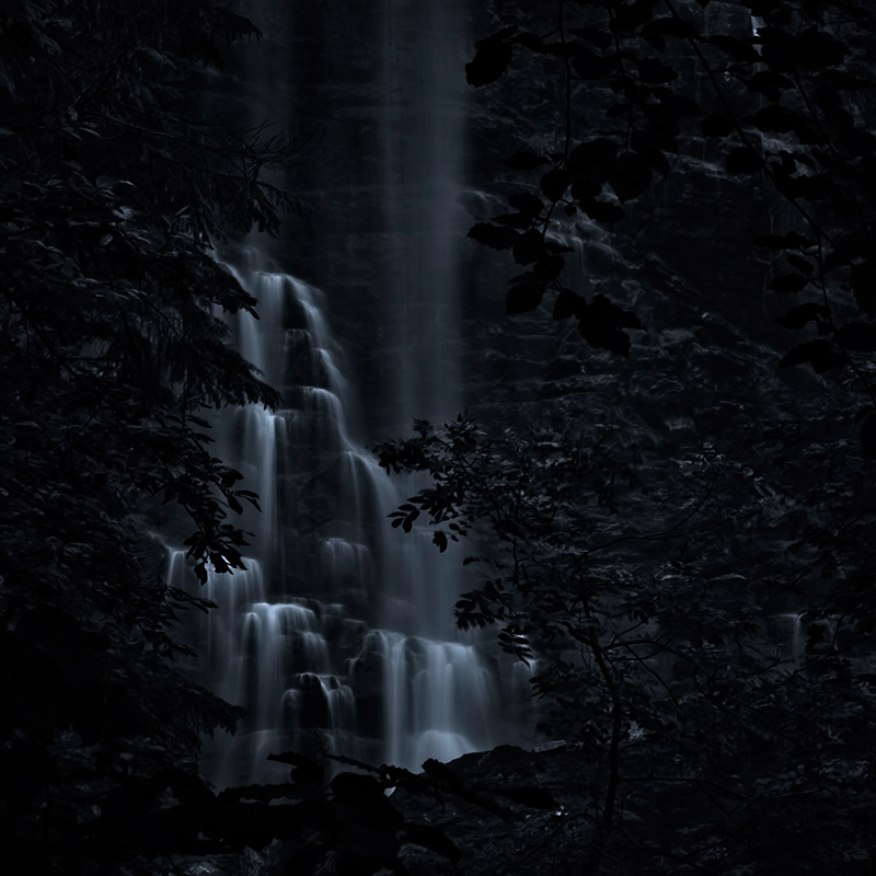 Waterfall in moonlight