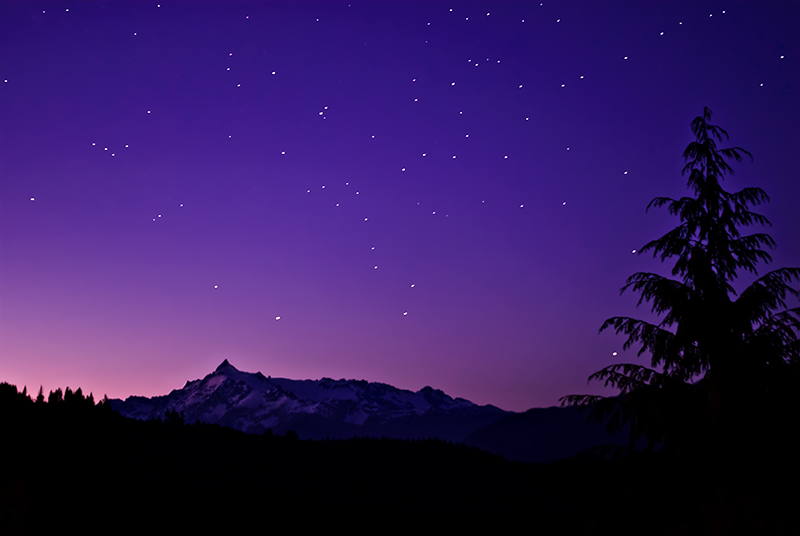 Starry, Starry Night Over Mt. Shuksan