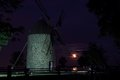 A Full Moon with a Composition of an Historical Mill
