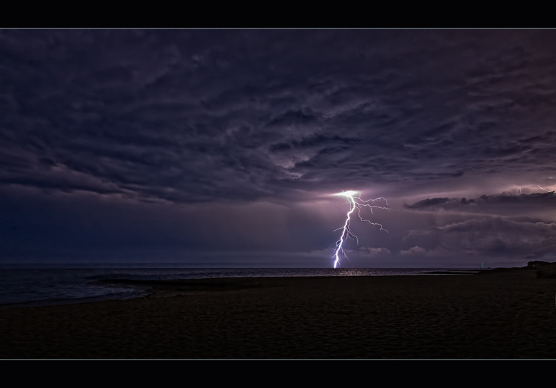 Midsummer Lightning Over Nantucket Sound