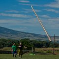 Large Caber Tossed