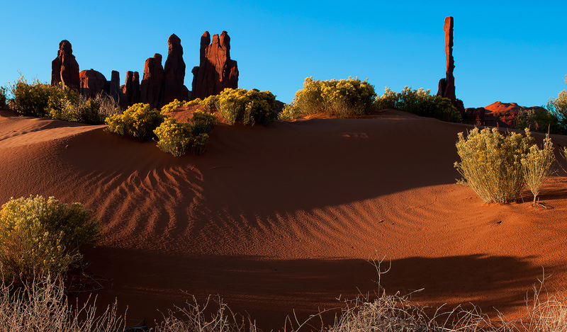 The Totems at Monument Valley