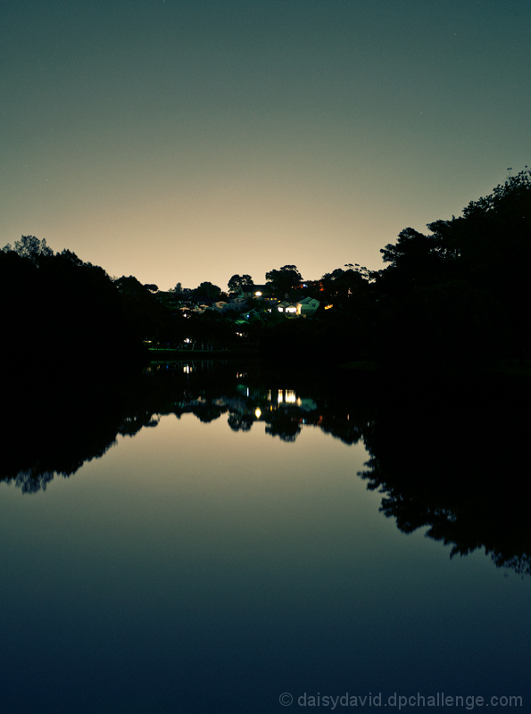 Cooks River at night