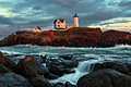 Sunset at Nubble Light