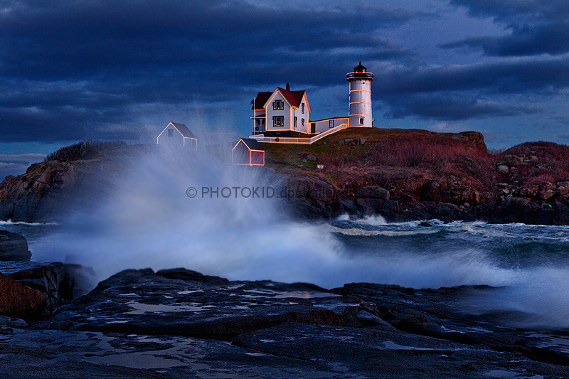 Stormy Evening at Nubble Light