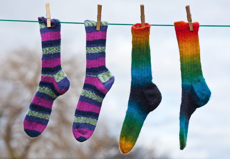 Hand Knit Socks - a little sunshine on a dull, grey winter's day.