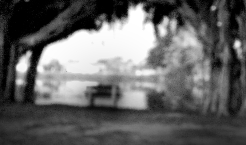 Bench by the lake ~ Pinhole