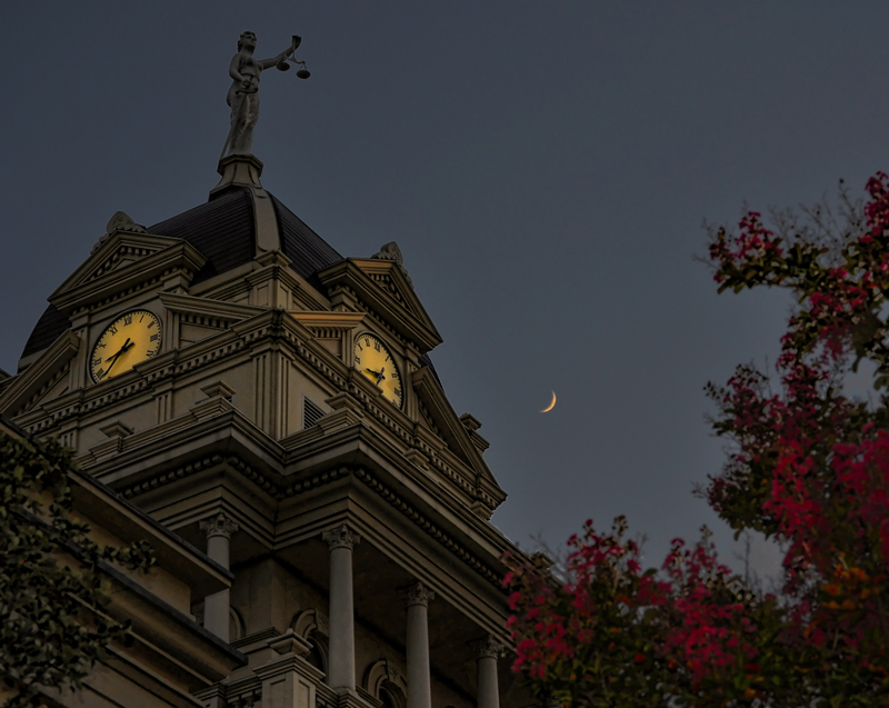 Bell County Courthouse on a Mid-Summer Night