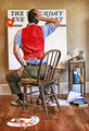 """Artist Facing Blank Canvas"" : A Tribute to Norman Rockwell"