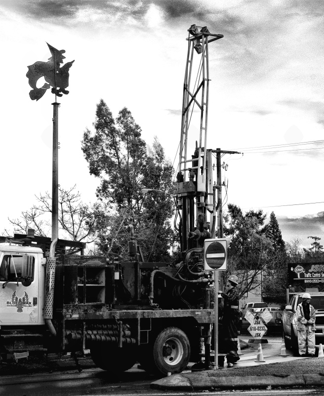 Local Witch Aids Drilling Operation