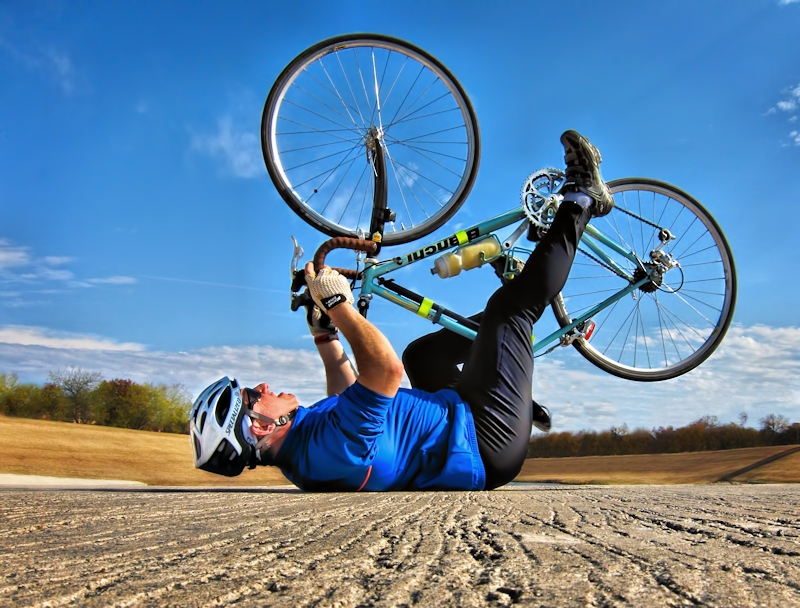 Cycling tip #1: Rubber Side Down
