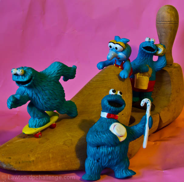Cookie Monsters at play