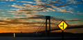 Sun behind the Verrazano