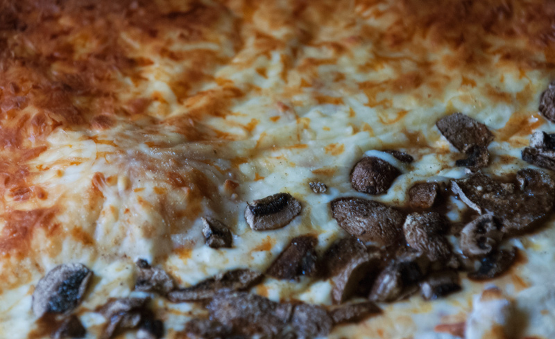 Mushroom & Three Cheese Pizza